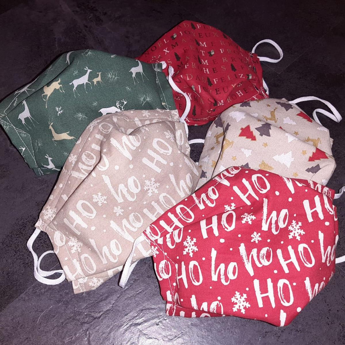 Weihnachtsmotiv Stoffmasken